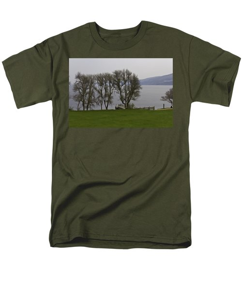 Loch Ness And Boat Jetty Next To Urquhart Castle Men's T-Shirt  (Regular Fit) by Ashish Agarwal