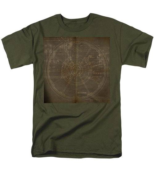 Men's T-Shirt  (Regular Fit) featuring the painting Locomotive Wheel by James Christopher Hill
