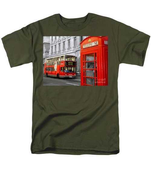 Men's T-Shirt  (Regular Fit) featuring the photograph London With A Touch Of Colour by Nina Ficur Feenan