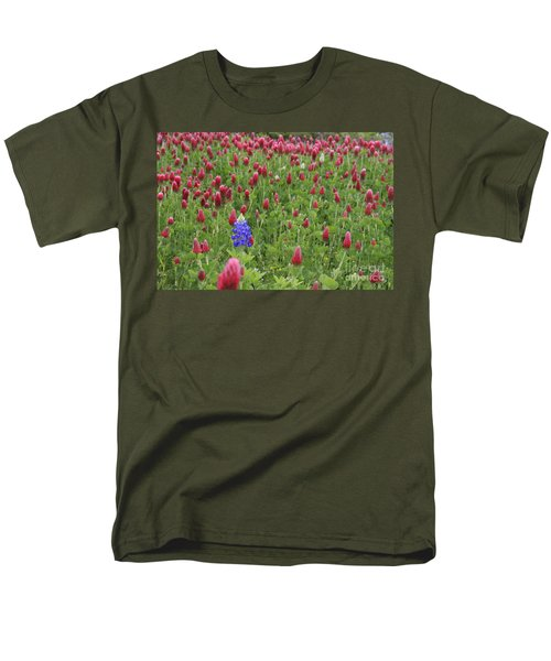 Lonely Bluebonnet Men's T-Shirt  (Regular Fit) by Jerry Bunger