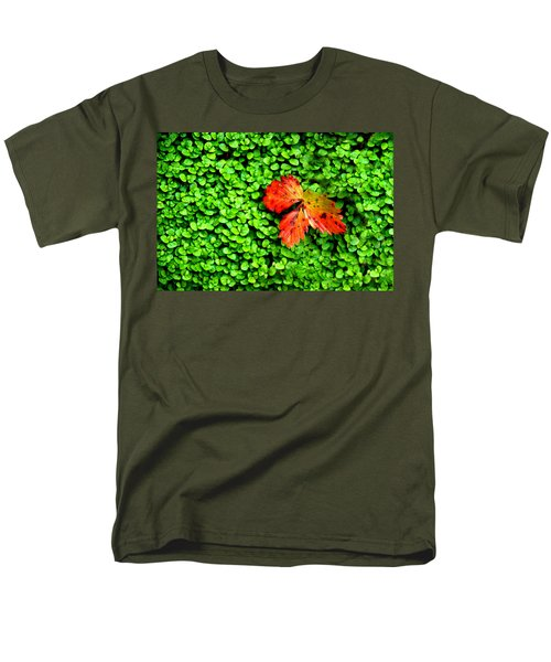 Men's T-Shirt  (Regular Fit) featuring the photograph Lonely Leaf by Charlie and Norma Brock