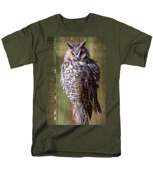 Men's T-Shirt  (Regular Fit) featuring the photograph Long Eared Owl by Joseph Skompski