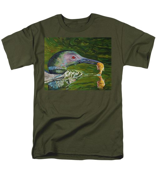 Loon Lunch Men's T-Shirt  (Regular Fit) by Phil Chadwick