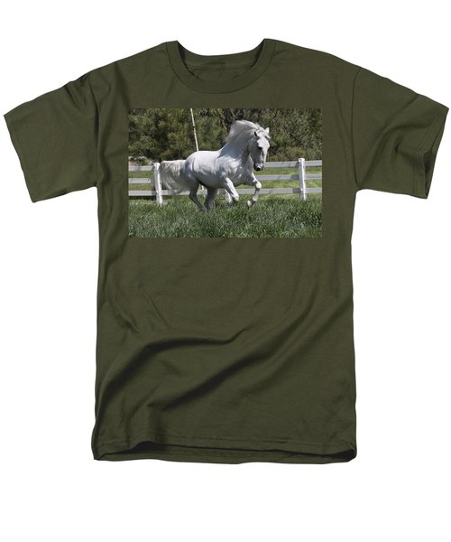 Men's T-Shirt  (Regular Fit) featuring the photograph Loose In The Paddock 5594 by Wes and Dotty Weber