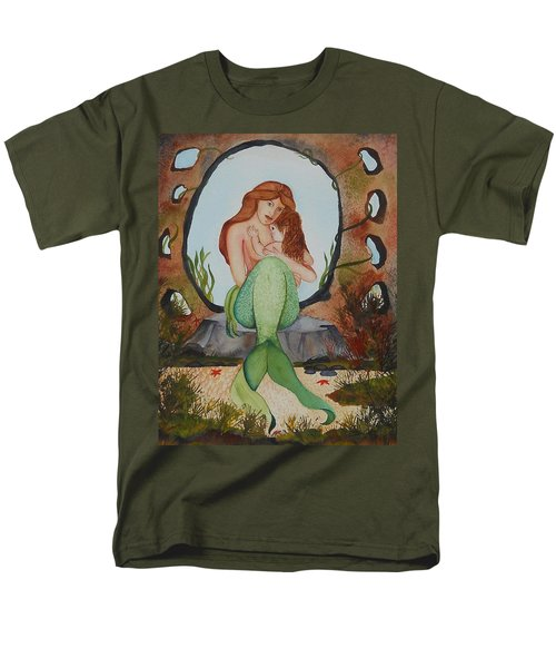 Men's T-Shirt  (Regular Fit) featuring the painting Loralie And Her Daughter by Virginia Coyle