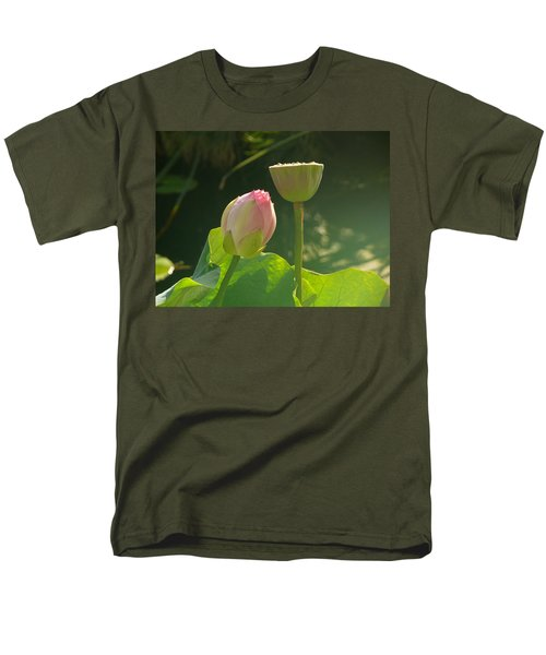 Men's T-Shirt  (Regular Fit) featuring the photograph Lotus Soft by Evelyn Tambour