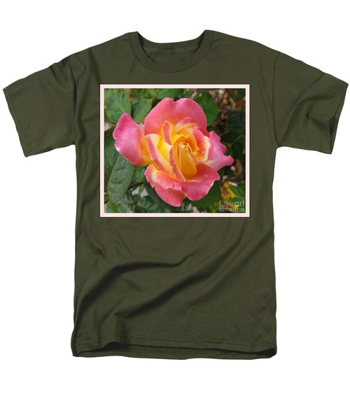 Love And Peace Men's T-Shirt  (Regular Fit) by Sara  Raber