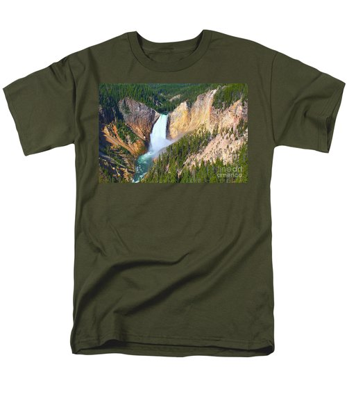 Lower Falls Yellowstone 2 Men's T-Shirt  (Regular Fit) by Teresa Zieba