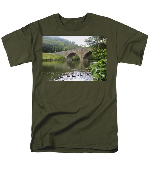 Men's T-Shirt  (Regular Fit) featuring the photograph Ludlow Bridge by John Williams