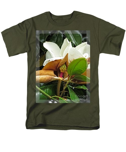 Men's T-Shirt  (Regular Fit) featuring the photograph Magnolia Flowers - Flower Of Perseverance by Ella Kaye Dickey