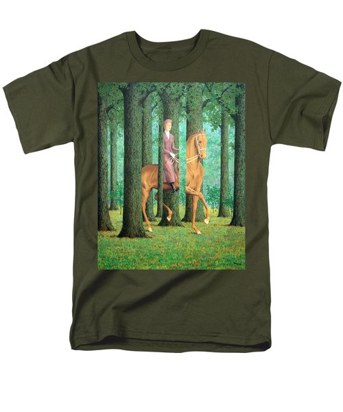 Magritte's The Blank Signature Men's T-Shirt  (Regular Fit)