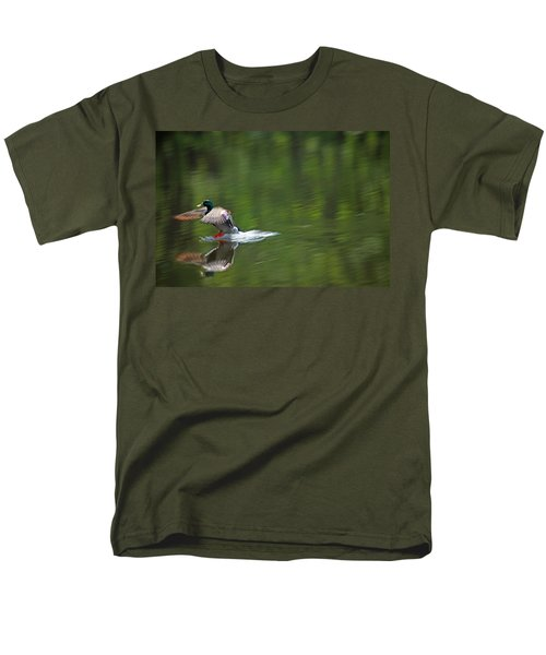 Mallard Splash Down Men's T-Shirt  (Regular Fit) by Karol Livote