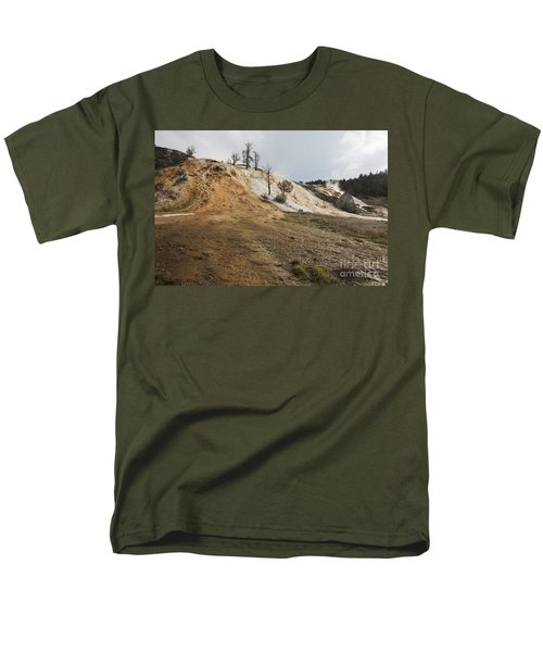 Men's T-Shirt  (Regular Fit) featuring the photograph Mammoth Hot Springs by Belinda Greb