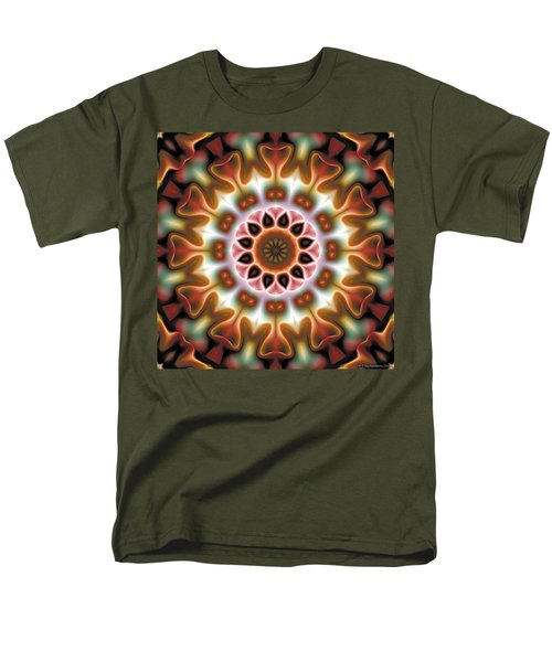 Men's T-Shirt  (Regular Fit) featuring the digital art Mandala 67 by Terry Reynoldson