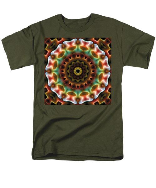 Men's T-Shirt  (Regular Fit) featuring the digital art Mandala 74 by Terry Reynoldson