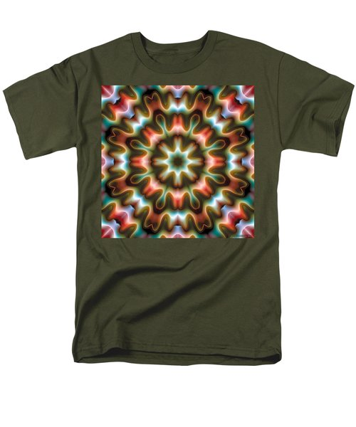 Men's T-Shirt  (Regular Fit) featuring the digital art Mandala 80 by Terry Reynoldson