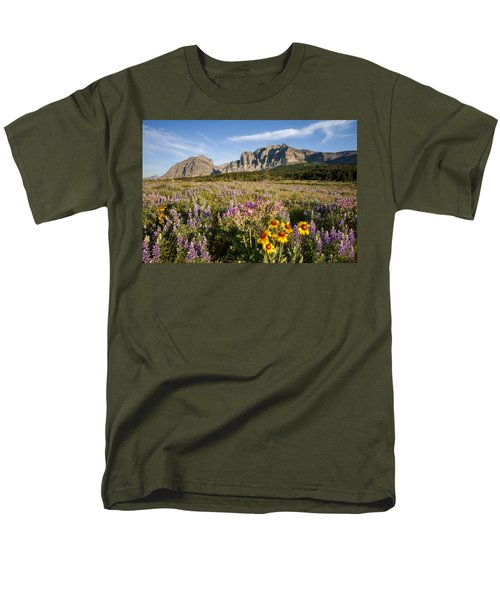 Men's T-Shirt  (Regular Fit) featuring the photograph Many Glacier Spring by Jack Bell
