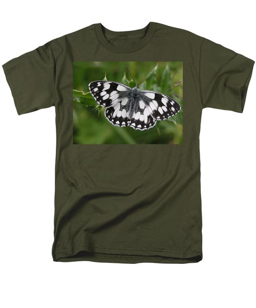 Marbled White Men's T-Shirt  (Regular Fit) by Ron Harpham