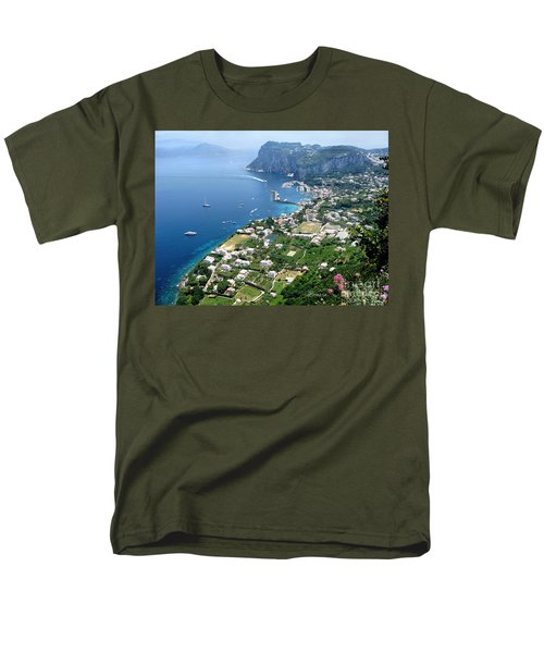 Marina Grande Anacapri Men's T-Shirt  (Regular Fit) by Jennie Breeze