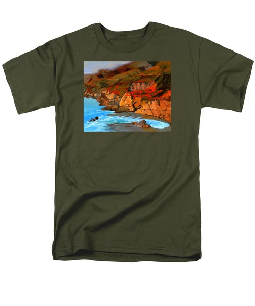 Mendocino Coast Men's T-Shirt  (Regular Fit) by Alice Leggett