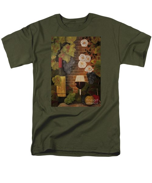Men's T-Shirt  (Regular Fit) featuring the painting Merlot For The Love Of Wine by John Stuart Webbstock