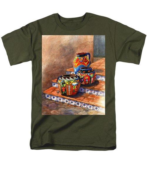 Mexican Pottery Still Life Men's T-Shirt  (Regular Fit) by Marilyn Smith