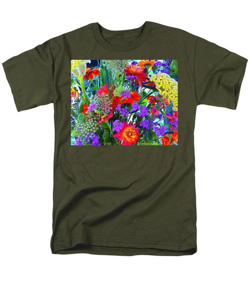 Mid August Bouquet Men's T-Shirt  (Regular Fit) by Byron Varvarigos