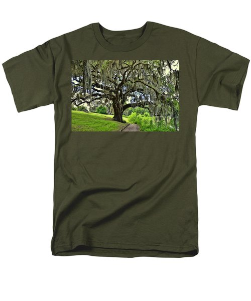 Middleton Place Oak  Men's T-Shirt  (Regular Fit) by Allen Beatty