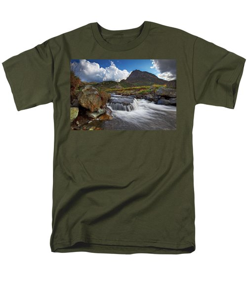 Mighty Tryfan  Men's T-Shirt  (Regular Fit) by Beverly Cash
