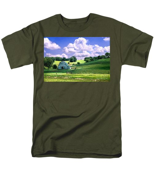 Men's T-Shirt  (Regular Fit) featuring the photograph Missouri River Valley by Steve Karol