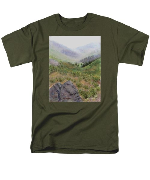 Mist In The Glen Men's T-Shirt  (Regular Fit) by Laurie Morgan