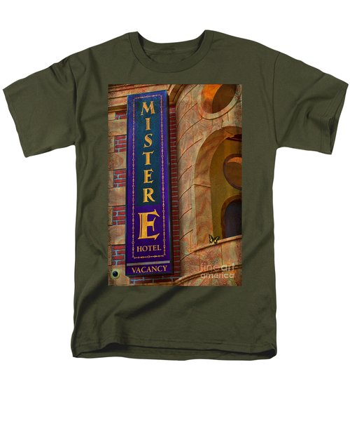 Mister E Hotel - Vacancy Sign Men's T-Shirt  (Regular Fit) by Liane Wright