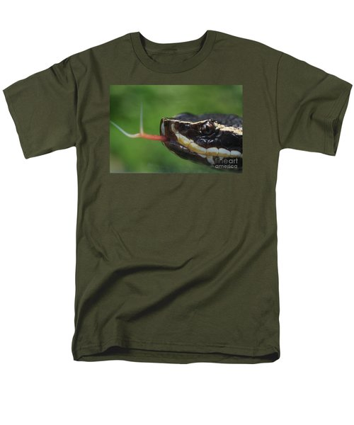 Men's T-Shirt  (Regular Fit) featuring the photograph Moccasin Snake by Rudi Prott