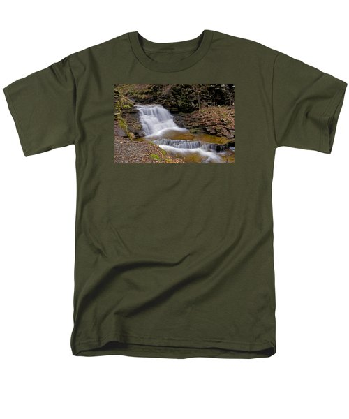 Mohican Falls In Spring Men's T-Shirt  (Regular Fit) by Shelly Gunderson