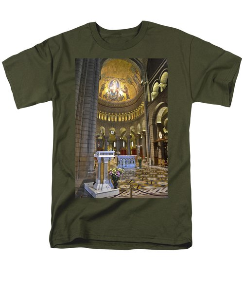 Men's T-Shirt  (Regular Fit) featuring the photograph Monaco Cathedral by Allen Sheffield
