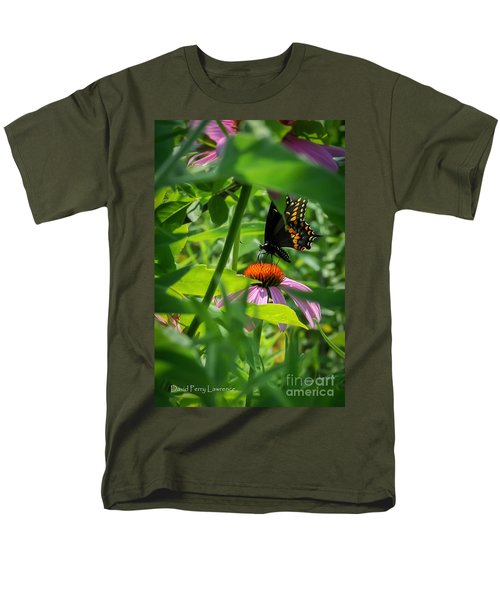 Monarch Butterfly Deep In The Jungle Men's T-Shirt  (Regular Fit) by David Perry Lawrence