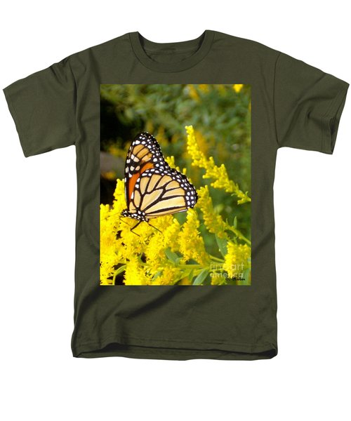 Men's T-Shirt  (Regular Fit) featuring the photograph Monarch by Sara  Raber