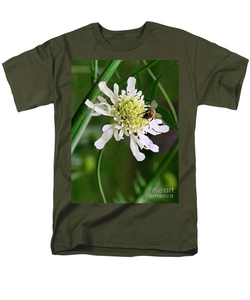 Men's T-Shirt  (Regular Fit) featuring the photograph Monet's Garden Bee. Giverny by Jennie Breeze