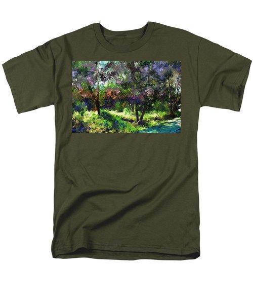 Monet's Garden Men's T-Shirt  (Regular Fit) by Terence Morrissey