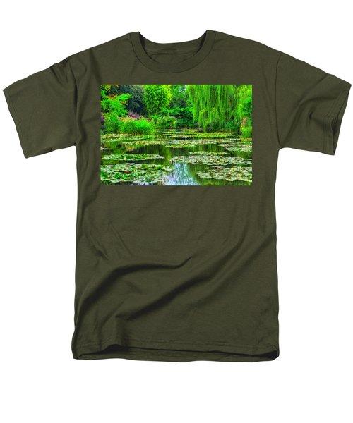 Monet's Lily Pond Men's T-Shirt  (Regular Fit) by Midori Chan