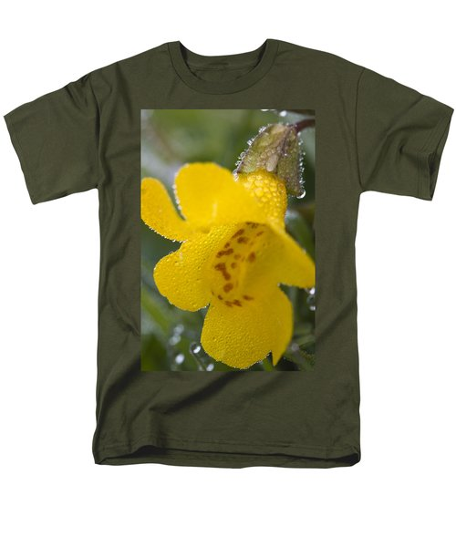 Men's T-Shirt  (Regular Fit) featuring the photograph Monkey In Yellow by Sonya Lang