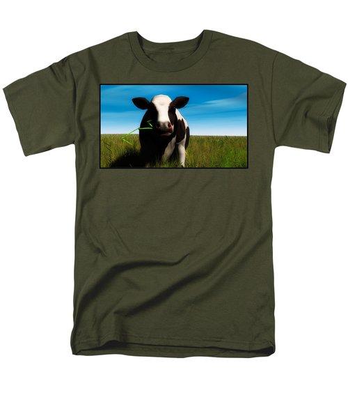 Men's T-Shirt  (Regular Fit) featuring the digital art Moo... by Tim Fillingim