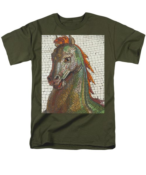Mosaic Horse Men's T-Shirt  (Regular Fit) by Marcia Socolik