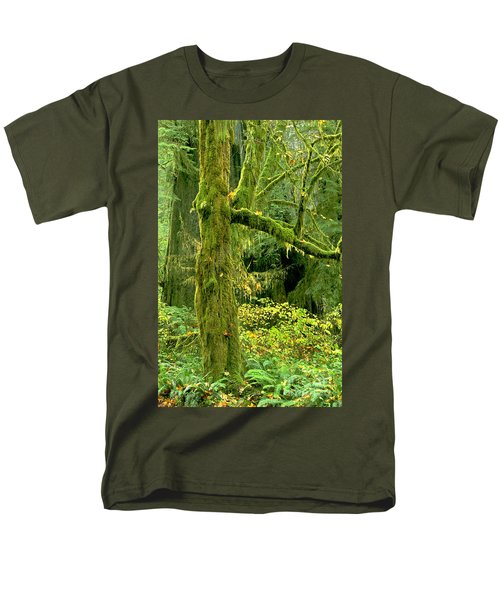 Men's T-Shirt  (Regular Fit) featuring the photograph Moss Draped Big Leaf Maple California by Dave Welling