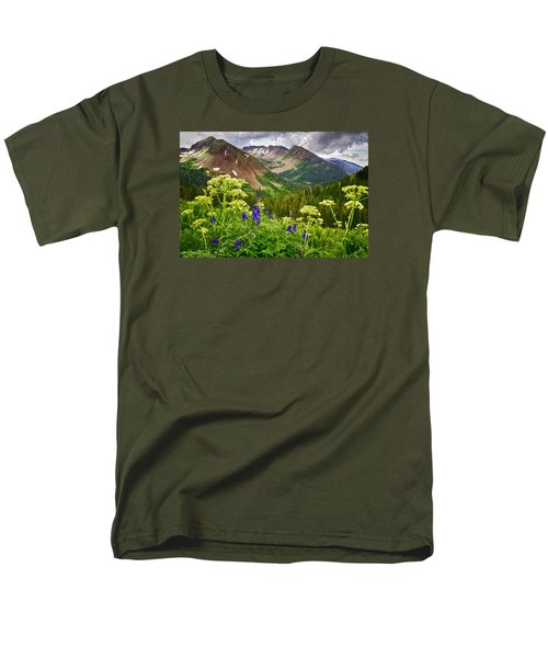 Mountain Majesty Men's T-Shirt  (Regular Fit) by Priscilla Burgers
