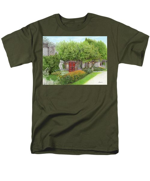 Men's T-Shirt  (Regular Fit) featuring the painting Mountain Playhouse Jennerstown Pa by Albert Puskaric