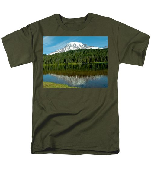Men's T-Shirt  (Regular Fit) featuring the photograph Mt. Rainier II by Tikvah's Hope