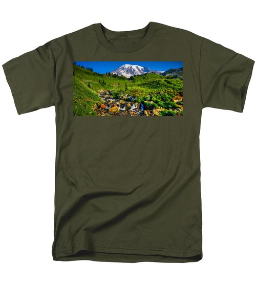 Mt. Rainier Stream Men's T-Shirt  (Regular Fit) by Chris McKenna