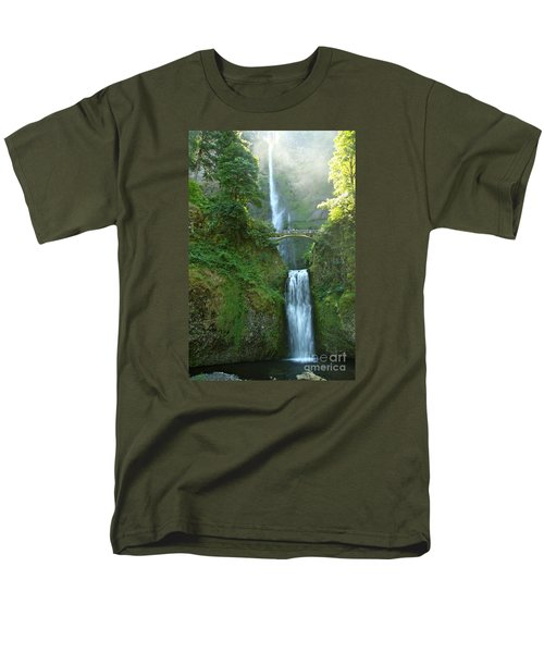 Multnomah Falls Men's T-Shirt  (Regular Fit) by Christiane Schulze Art And Photography