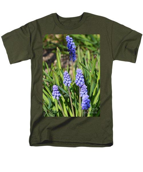 Muscari Armeniacum Men's T-Shirt  (Regular Fit) by Felicia Tica
